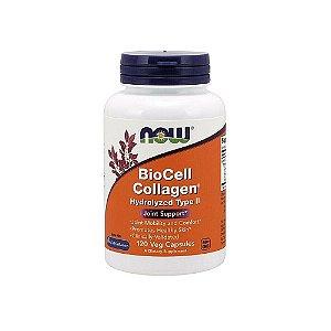 BioCell Colágeno Hidrolisado Tipo II NOW 120 Cápsulas