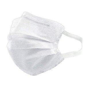 Máscara Descartável Tripla Camada Máxima Proteção Nariz E Boca Com Elástico Clip Nasal Branca MaskMedic