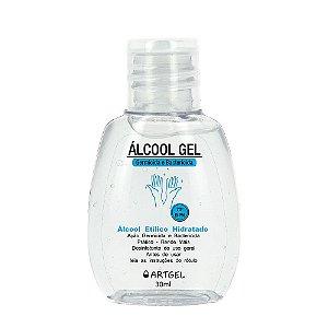 Álcool Gel Etílico Hidratado 70 Inpm Germicida E Bactericida Higiene Pessoal 30ml ArtGel