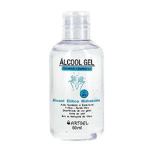 Álcool Em Gel 70 Inpm Para Limpar E Higienizar As Mãos 60ml ArtGel