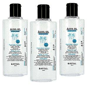 Kit 3 Álcool Gel Higienizador De Mãos ArtGel 70 INPM 200ml