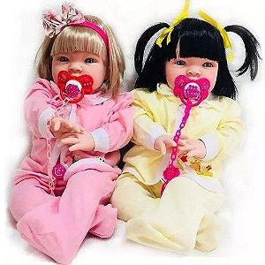 Kit 2 Bebês Reais Tipo Reborn Realista Meu Xodo 53cm Princesa
