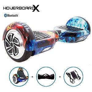 Hoverboard 6,5 Fogo e Gelo HoverboardX com Som Bluetooth
