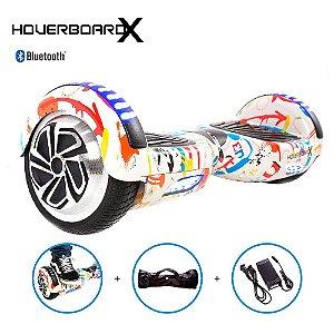Hoverboard Skate Elétrico 6,5 Grafite HoverboardX Bluetooth