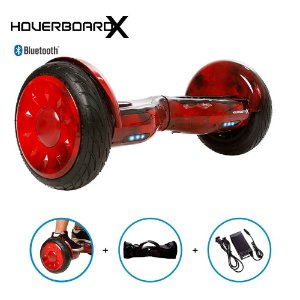 "Hoverboard Skate Elétrico 10"" Red Fire Bluetooth com Bolsa"