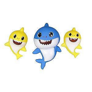 Brinquedo Infantil Shark Toys tipo Baby Shark com Led e Som