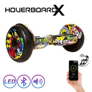 "Hoverboard Skate Elétrico 10"" Hip Hop Barato Led Bluetooth"