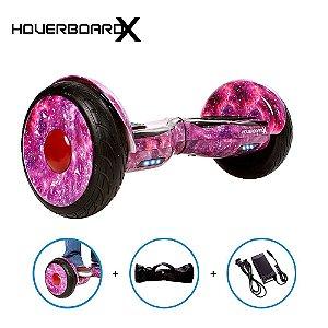 """Esqueite Elétrico 10"""" Aurora Lilás HoverboardX Bluetooth"""