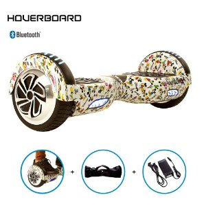 """Hoverboard 6,5"""" Mickey Mouse Branco Hoverboard Bluetooth"""