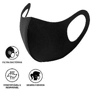 1 Máscara Lavávéis Reutilizavel Preta Cuidado Pessoal