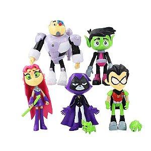 Kit Boneco de Super Heróis Jovens Titans Articulado