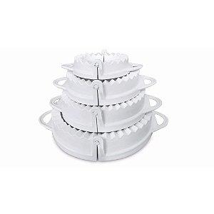Kit Com 4 Formas de Pastel e Risole De Diferentes Tamanhos