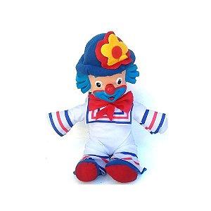 Brinquedo Infantil Palhaço Patati De Borracha e Tecido