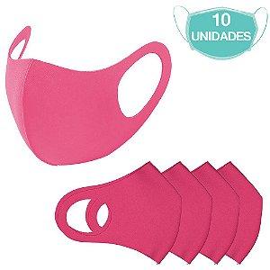 10 Máscaras Laváveis Reutilizável Rosa Cuidado Pessoal