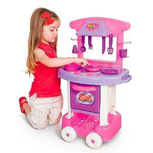 Brinquedo Mini Cozinha Infantil Rosa Menina Coleção PlayTime