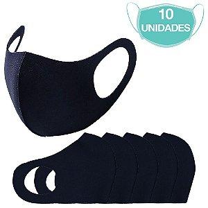 10 Máscara Laváveis Reutilizável Azul Marinho Cuidado Pessoa