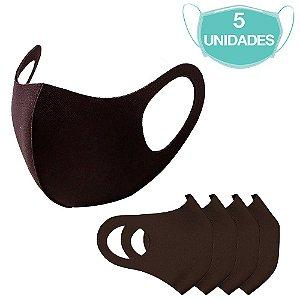 5 Máscaras Laváveis Reutilizável Marrom Cuidado Pessoal