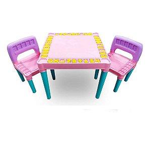 Mesa e Cadeira Educativa Para Menina - 4130 Tritec
