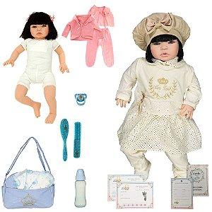 Boneca Bebê Reborn Realista Isabela Caqui Cegonha Dolls