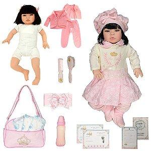 Boneca Bebê Reborn Realista Ellen Rosa Cegonha Dolls