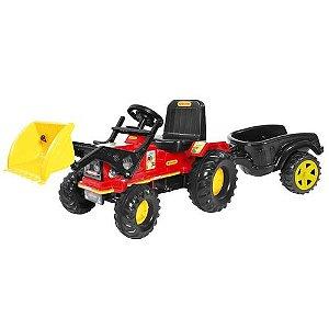 Trator Farmer Brinquedo Infantil Com Pá e Caçamba Biemme 315