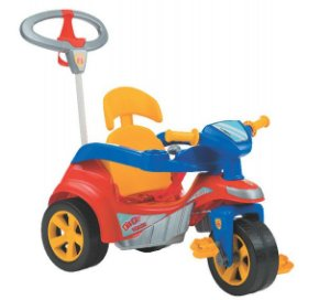 Triciclo Baby Trike Evolution Vermelho com Haste Biemme