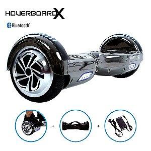 Hoverboard Skate 6,5 Cinza Chrome HoverboardX com Bluetooth