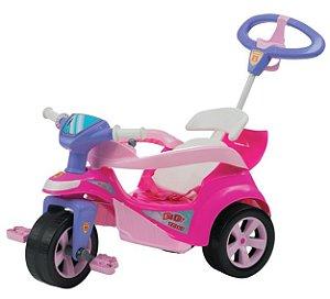 Brinquedo Infantil Baby Trike Evolution Rosa - Biemme