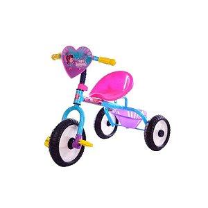 Triciclo Girl Infantil Turma Da Aventura Rosa Unitoys 1389