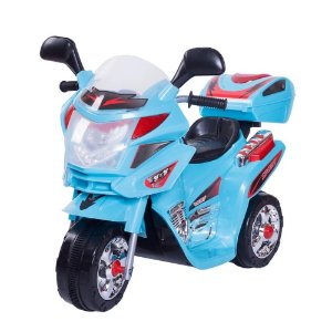 Mini Moto Triciclo Elétrico Infantil California Azul