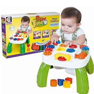 Brinquedo Mesa Interativa Didática Verde E Branca Cotiplás