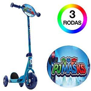 Patinete Infantil 3 Rodas Azul PJ Masks Bel Fix 406800