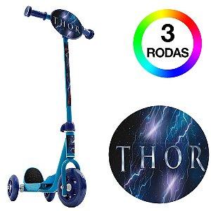 Patinete Infantil 3 Rodas Azul Thor Ragnarok Bel Fix 406800