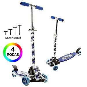 Patinete Infantil Radical de Balanço com 4 Rodas Azul BBR