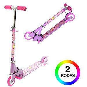 Patinete Infantil Roxo Rodas Com Luzes de Led BBR Toys