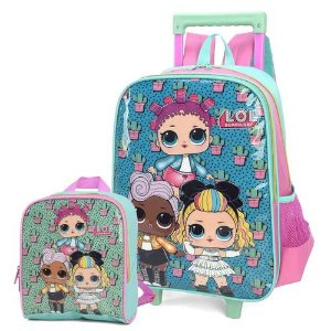 Kit Mochila Infantil Escolar Lol Surprise Com Rodinhas