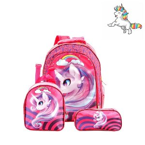 Kit Mochila Escolar Infantil Unicornio My Little Poney Costa