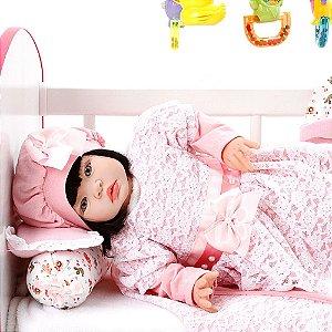 Boneca Bebe Reborn Ana Laura Salmão Cegonha Reborn Dolls