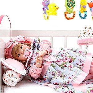 Boneca Bebe Reborn Linda Flor Cegonha Reborn Dolls