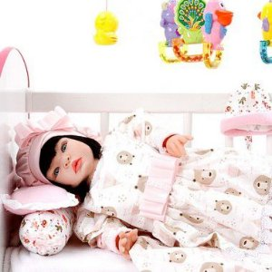Boneca Bebe Reborn Moana Rosa Ursinhos Cegonha Reborn Dolls