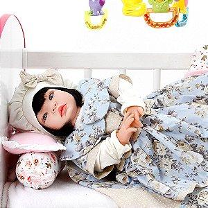 Boneca Bebe Reborn Chloe Floral Cegonha Reborn Dolls