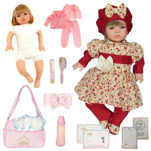 Boneca Bebe Reborn Maitê Vermelho Cegonha Reborn Dolls