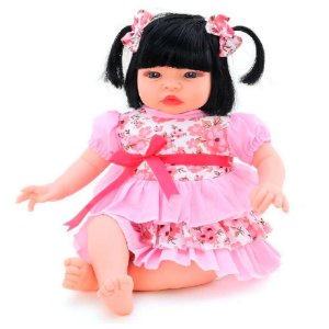 Boneca Baby Kiss Morena - Sid-nyl