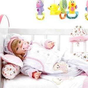 Boneca Bebe Reborn Ursa Charme Branco Cegonha Reborn Dolls