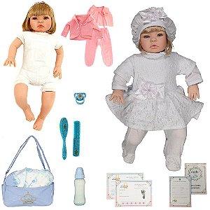Boneca Bebe Reborn Nara Branco Cegonha Reborn Dolls