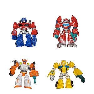 Kit 4 Bonecos Robô Transformers Heróis Brinquedos Infantil