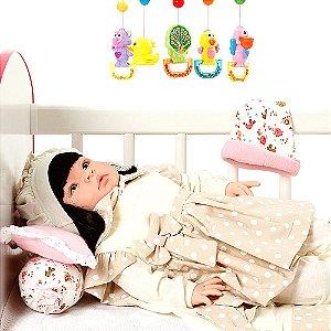 Boneca Bebe Reborn Balone Caqui Cegonha Reborn Dolls Mais 22