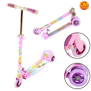 Patinete de 3 Rodas Radical New Top Sonho de Princesa Rosa