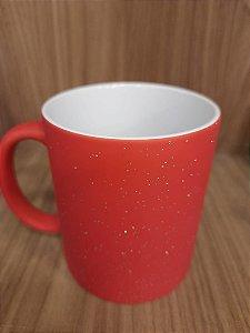 Caneca Magica Vermelha Sky c/ Glitter