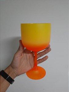 Taça Gin Bi-Color Laranja +Amarelo